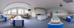 Panorama des Biologieraumes N21